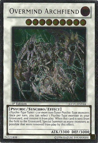 (Yu-Gi-Oh! - Overmind Archfiend (EXVC-EN044) - Extreme Victory - 1st Edition - Ultimate Rare)