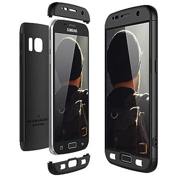CE-Link Funda Samsung Galaxy S7, Carcasa Fundas para Samsung Galaxy S7, 3 en 1 Desmontable Ultra-Delgado Anti-Arañazos Case Protectora - Negro