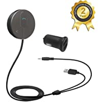 Besign Bluetooth 4.1 Car Kit for Hands-Free Talking & Music Streaming, Wireless Audio Receiver for Car with 3.5mm AUX Input Port