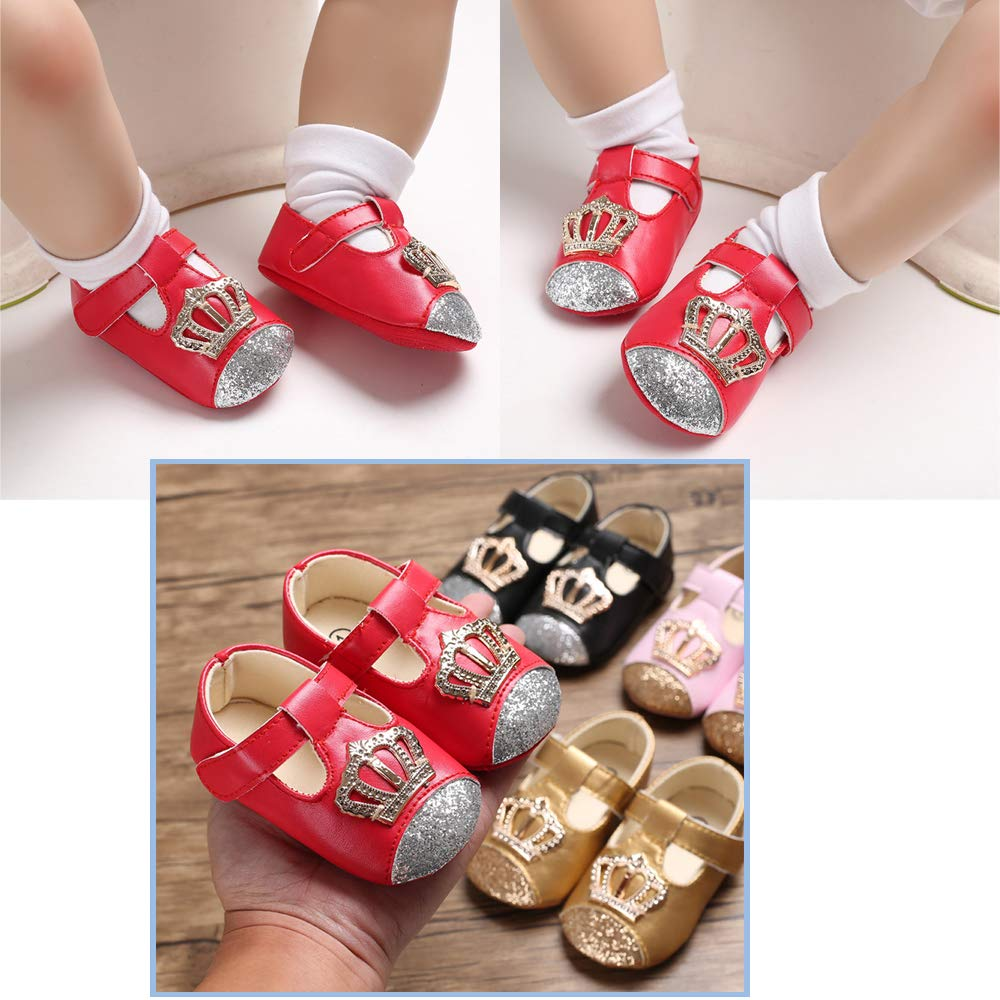 KaKaKiKi Baby Girls Mary Jane Flats Bowknot Non-Slip Princess Dress Toddler First Walkers Shoes