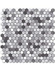 BeNice Peel and Stick Hexagon Backsplash Tiles for Kitchen, Stick on Mosaic Wall Tile Sticker