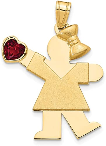 10k Yellow Gold CZ November Birth month Stone Girl Charm Pendant