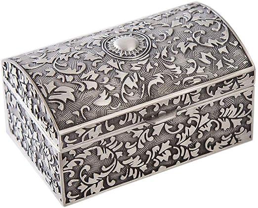 joyero, creativo retro princesa joyero metal exquisito tallado caja de almacenamiento de joyas tocador decoración regalo: Amazon.es: Hogar
