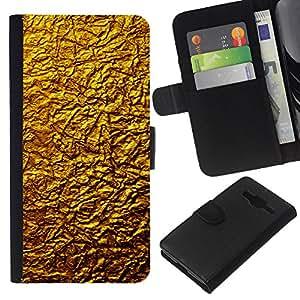 """Be-Star la tarjeta de Cr¨¦dito Slots PU Funda de cuero Monedero caso cubierta de piel Para Samsung Galaxy Core Prime ( Oro Dise?o Architecture Pared Material de Arte"""" )"""
