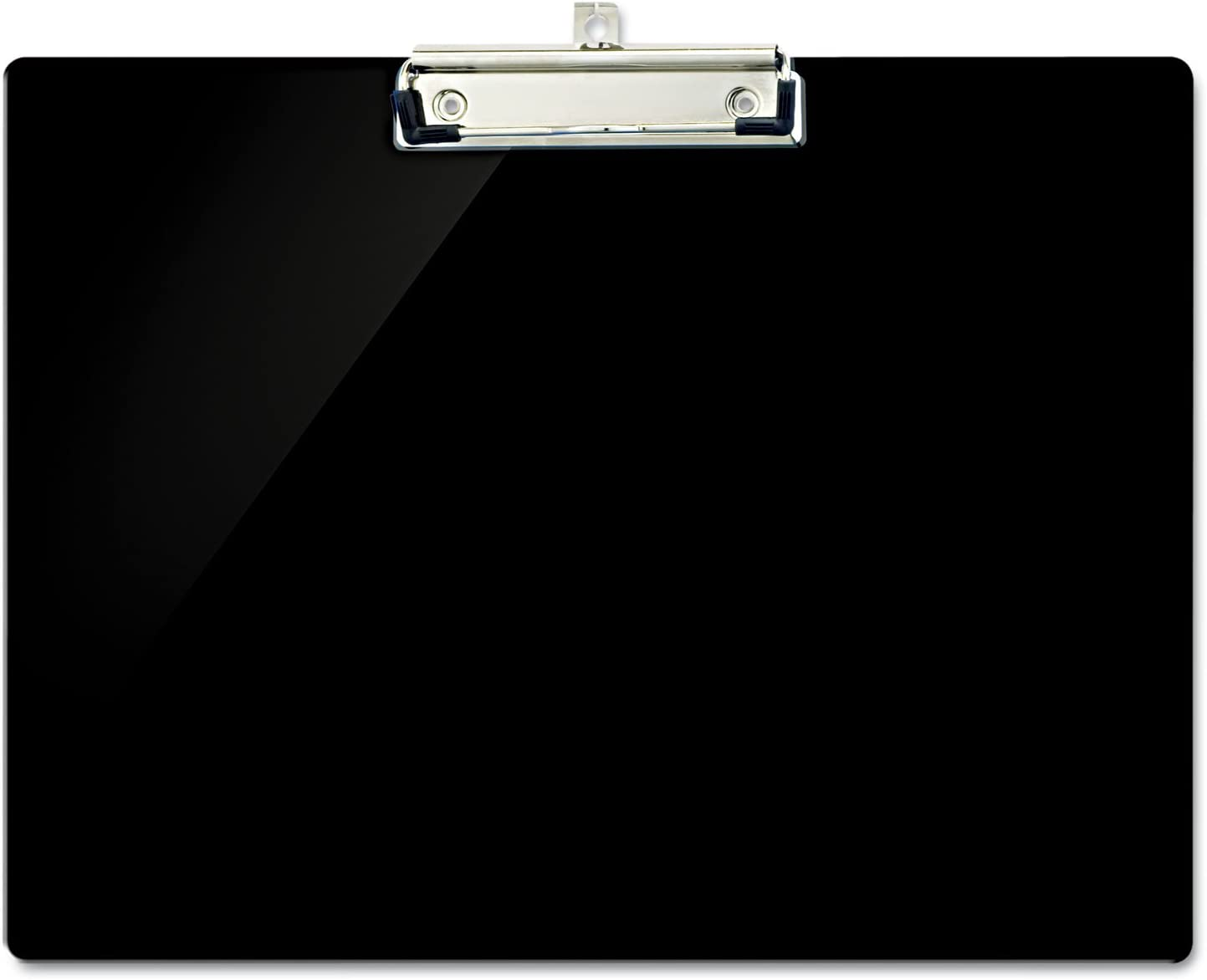 Officemate 83050 Recycled Plastic Landscape Clipboard, 1/2-Inch Capacity, Black