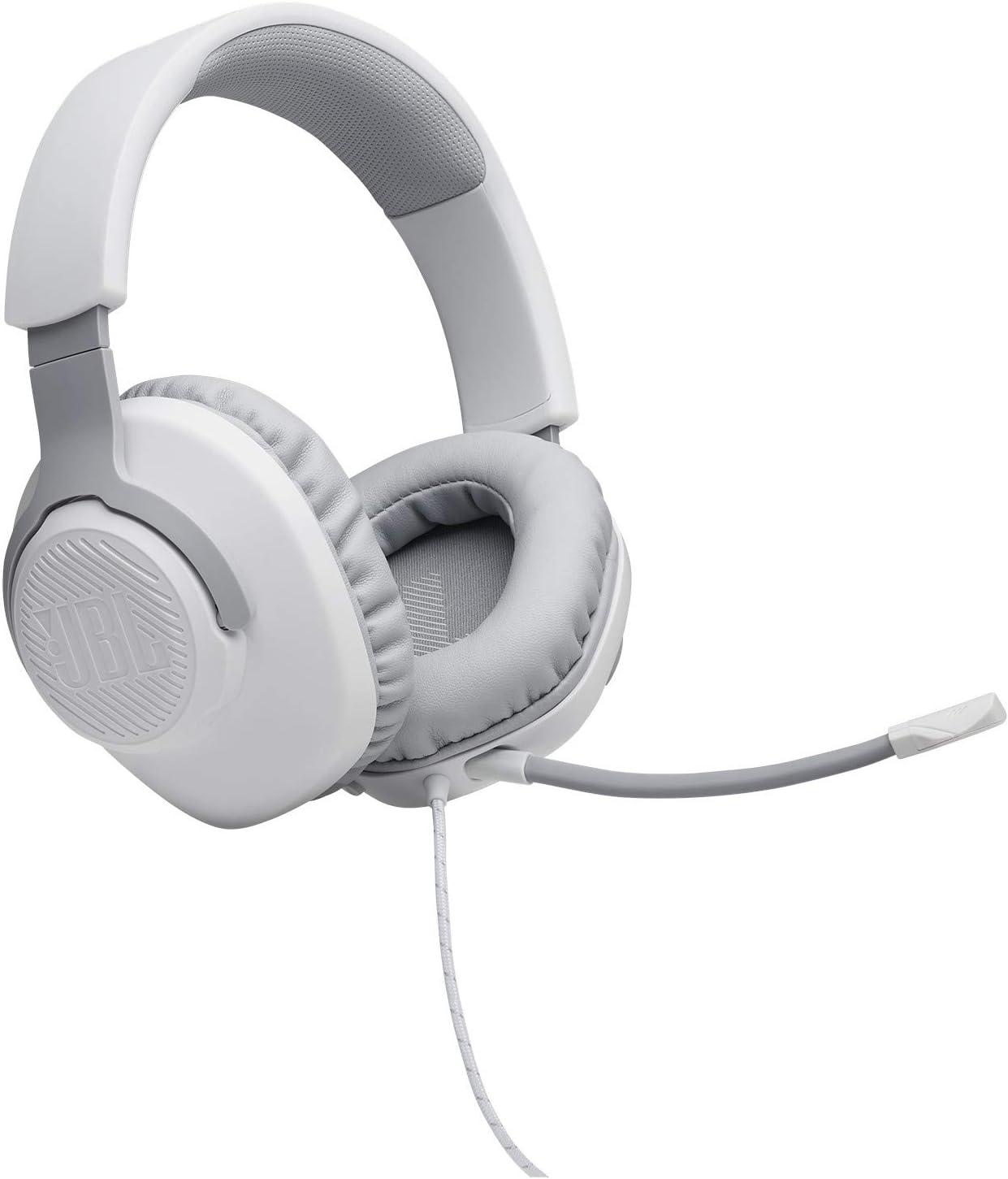 Auriculares Gamer Over Ear Jbl Quantum 100, blanco