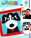 Sew cute needlepoint dog kit includes 1 piece of painted Mesh, 1 plastic frame, yarn, 1 embroidery needle and instructions.