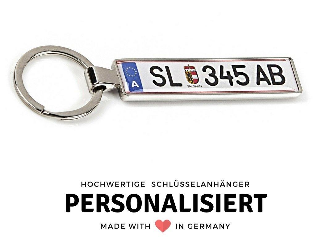 LexTrade© Schlüsselanhänger mit KFZ - Kennzeichen Österreich: Amazon ...