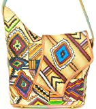 ZIMBELMANN SANDY Genuine Nappa Leather Hand-painted Flap Shoulder Bag