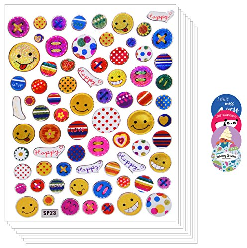 Writing Station Hear Flower Star Sticker for scrapbook (Emoji-02)