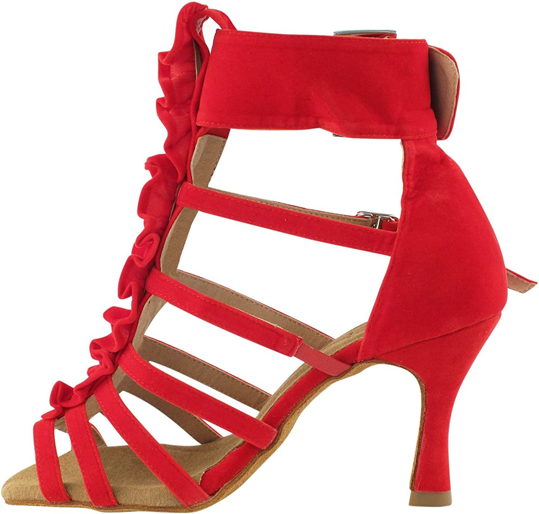 Ballroom Salsa Wedding Clubing Swing 50 Shades RED Ballroom Latin Dance Shoes for Women