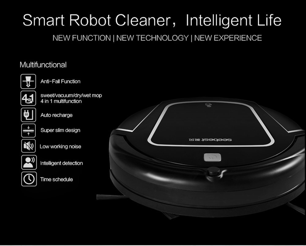 Amazon.com - Seebest D730 Robotic Vacuum with Self-Charging, Good for Pet Fur, Clean Hard Floor, Wet Mopping -