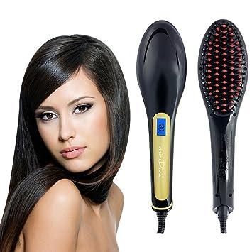 Minidiva Cepillo para el cabello - Anion Cuidado del cabello Anti Scald Anti Static cerámica Hair