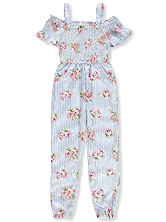 a1bd289c8 Amazon.com: Star Ride Girls' Cold Shoulder Jumpsuit: Clothing