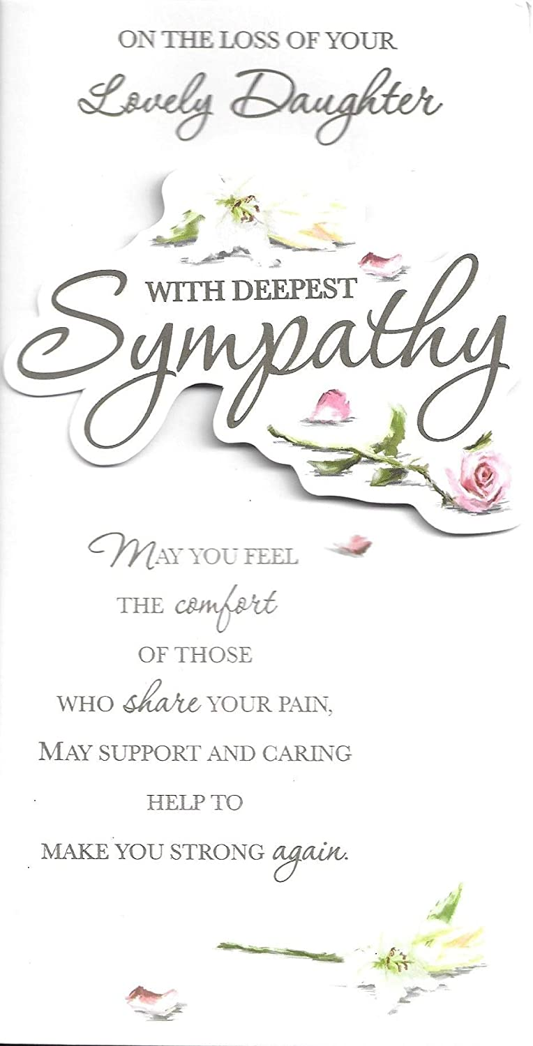Condolence Sympathy Card On The Loss of Your Daughter ~ Quality Card