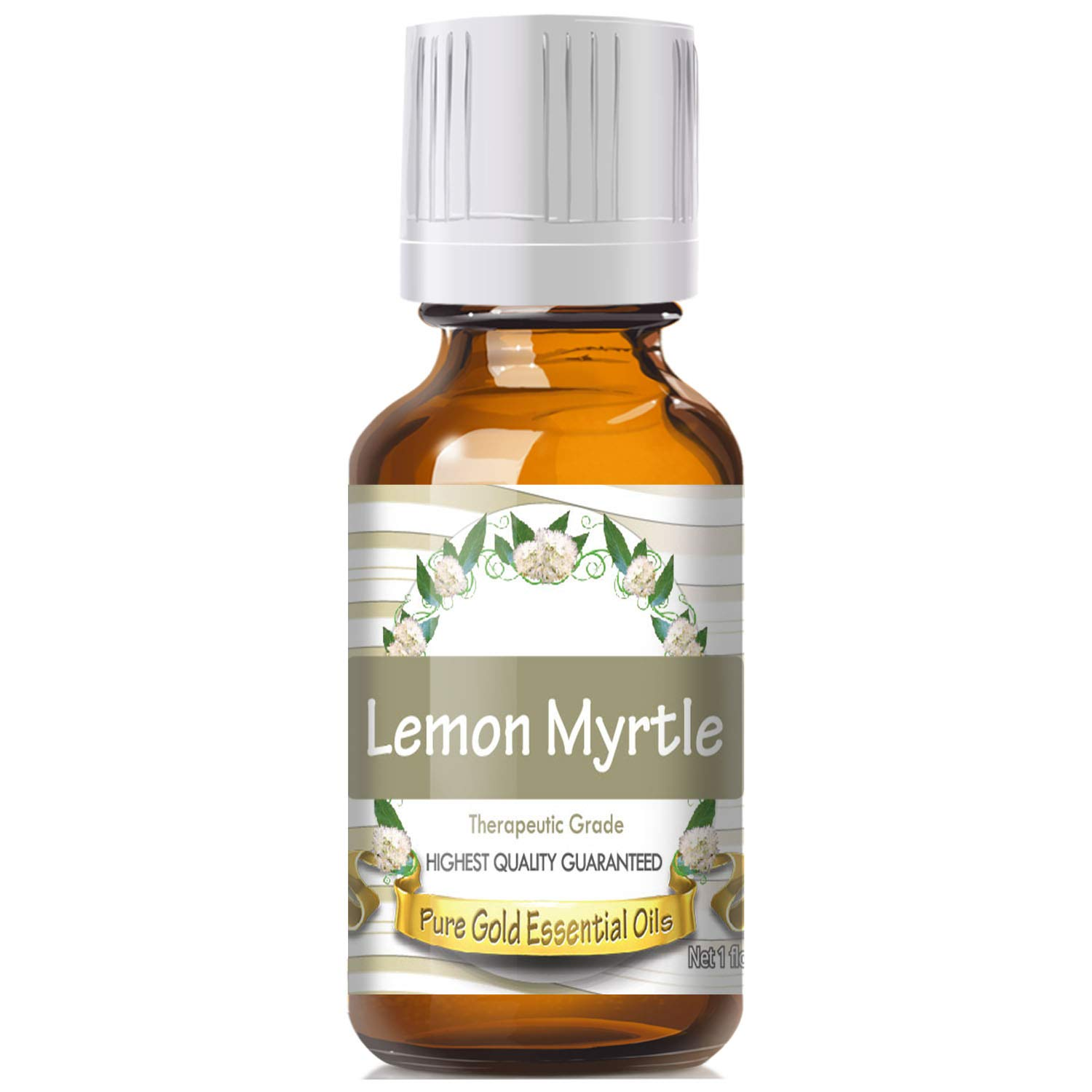Lemon Myrtle Essential Oil (100% Pure, Natural, UNDILUTED) 30ml - Best Therapeutic Grade - Perfect for Your Aromatherapy Diffuser, Relaxation, More!