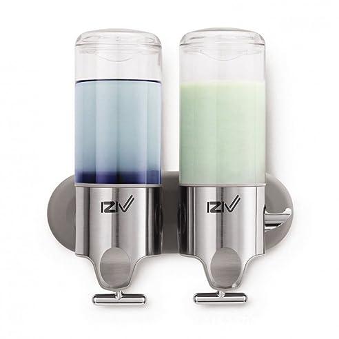 izivtm delicate leben 1000ml shampoo und seifenspender fr wandmontage edelstahl fr badezimmer - Seifenspender Dusche Wandmontage
