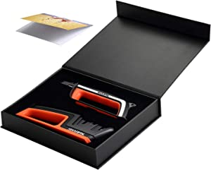 SHARPAL Chef Knife and Scissors Sharpener & Garden Tool Sharpener, Sharpening & Honing Straight and Serrated Knives, Lawn Mower Blade, Axe, Pruners, Shears, Combo Gift Pack w/Greeting Card