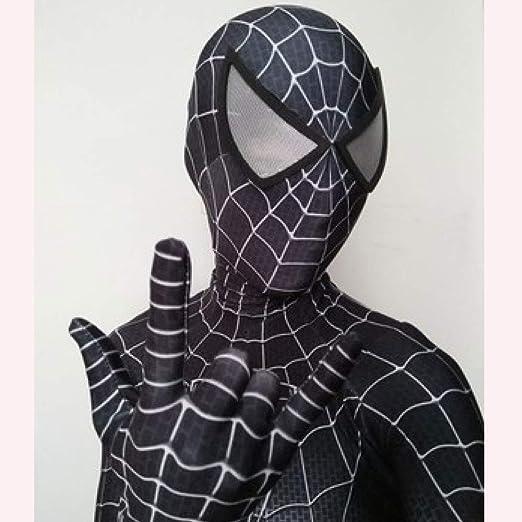 JUFENG Traje Negro De Spiderman 3D Impreso Lycra Spandex ...