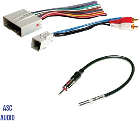 aftermarket stereo wiring harness amazon com asc audio car stereo wire harness and antenna adapter  asc audio car stereo wire harness