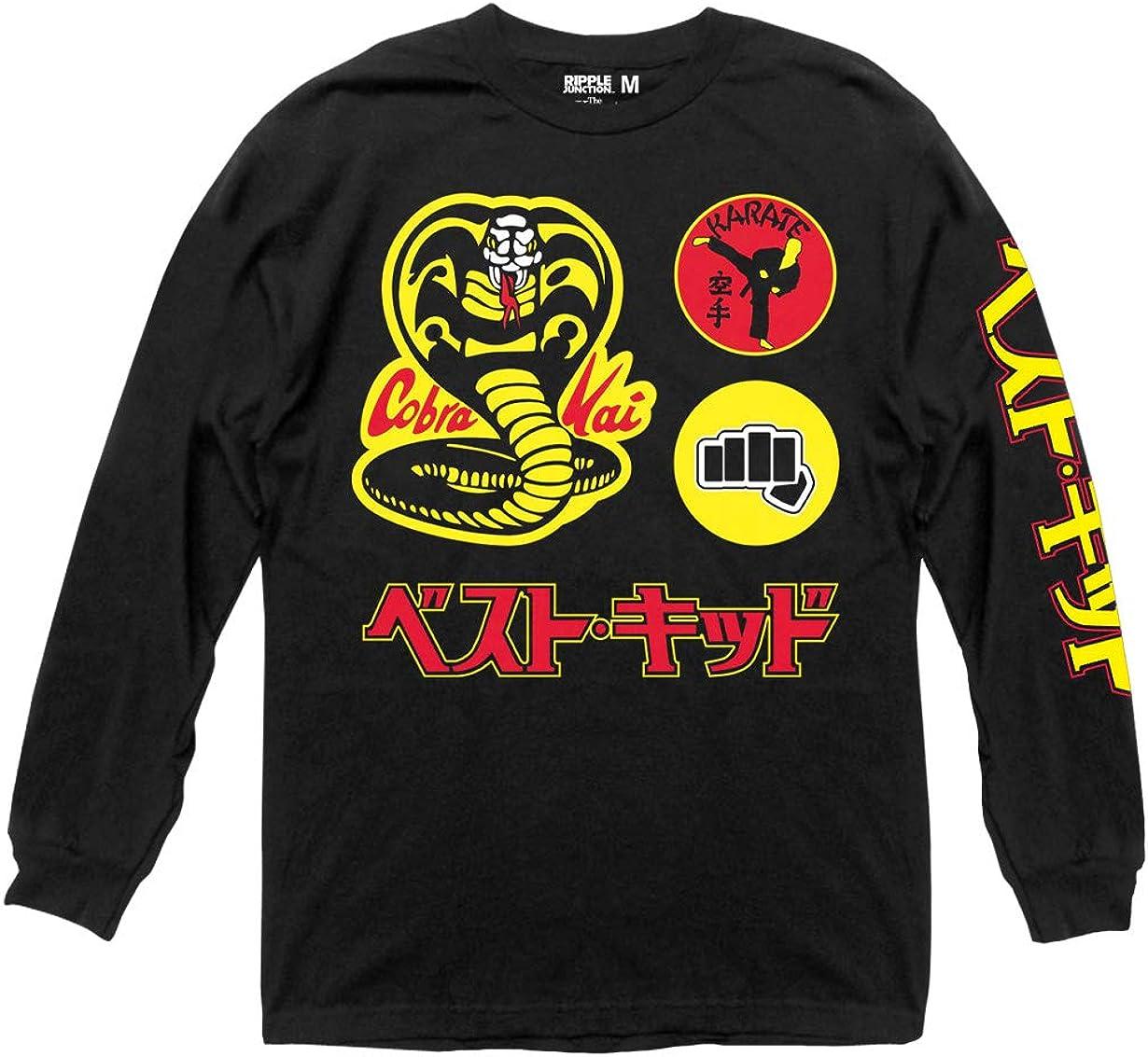 Ripple Junction Karate Kid Cobra Kai Badges Adult Long Sleeve T-Shirt