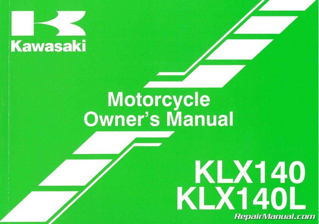 99987 1772 2014 Kawasaki KLX140 L Motorcycle Owners Manual