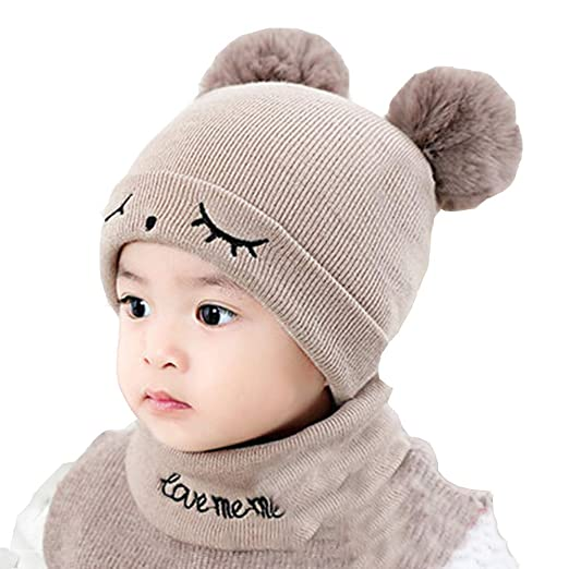 Amazon.com  chiechiee Baby Knit Hat Cute Pom Pom 63fa3fbc271