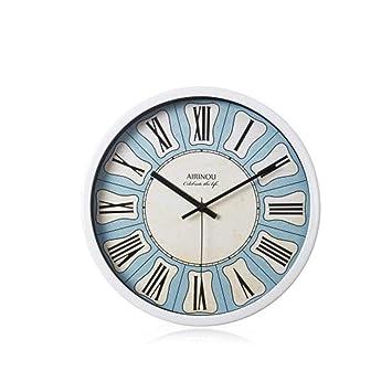 Hu0026S Leise Wanduhr 12 Zoll Toskanischen Stil Römische Ziffer Design Uhr Wand  Dekorative Uhren