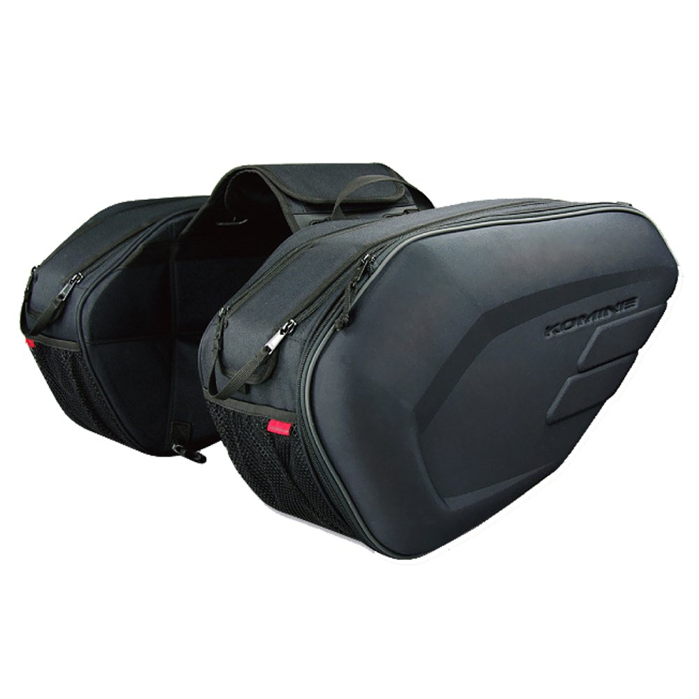 58L Big Capacity Black Multi-use Expandable Motorcycle Luggage Saddle Bags Motorbike Lo.gas