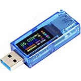 MakerHawk USB 3.0 Tester, USB Power Meter, 3.7-30V 0-4A Voltage Tester Multimeter, USB Current Meter Tester, IPS Color…