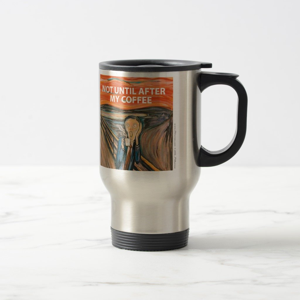 Zazzle Munchパロディマグ 15 oz, Travel/Commuter Mug 49534585-5f61-5e4a-f7ee-3391bd3278da B078H1LG2Y  ステンレススチール 15 oz, Travel/Commuter Mug