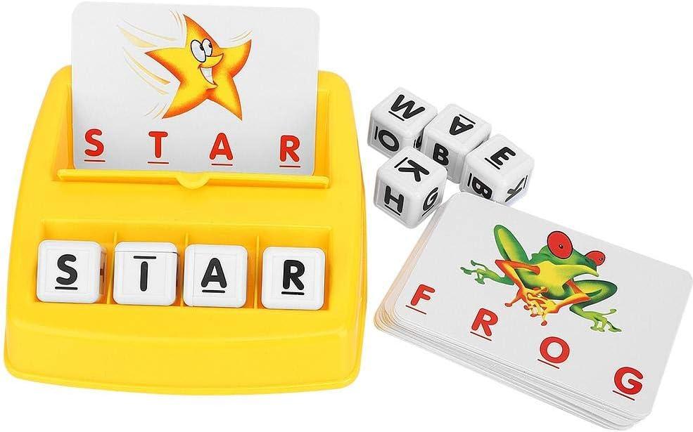 Aprendizaje de tarjetas de palabras juego de cerebro Juego de rompecabezas Juguete creativo Memorizar palabras Tarjeta Educación temprana Aprendizaje feliz Alfabeto inglés Juegos interactivos(#1): Amazon.es: Bebé