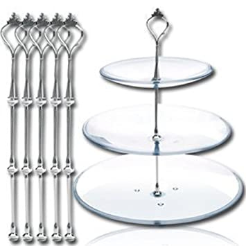 AEXGEu0026trade; 5 Sets 3 Tier Crown Cake Stand Holder Fruit Candy Biscuit Desserts Plate Tiered  sc 1 st  Amazon.com & Amazon.com | AEXGE™ 5 Sets 3 Tier Crown Cake Stand Holder Fruit ...