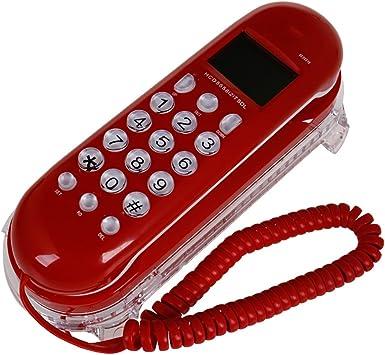 SAN_X Teléfono Retro, teléfono Fijo con Marca, identificador de Llamadas de Cable, Tienda de Hotel, Oficina, habitación Familiar: Amazon.es: Electrónica