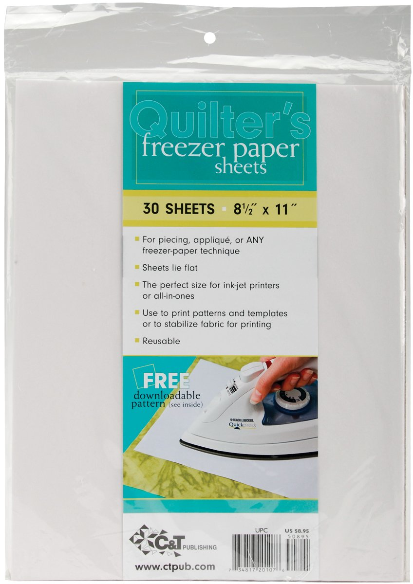 C&T Publishing 20107 Quilter's Freezer Paper Sheet, 8-1/2-Inch x 11-Inch, 30-Pack