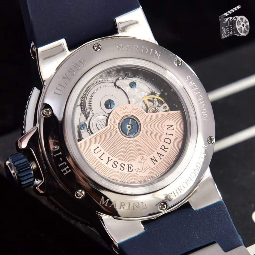 N-A Classique Mode Hommes Argent Bleu Blanc Automatique Mécanique en Acier Inoxydable Saphir Plongeur Maxi Chronomètre Pvd Montre Limitée White