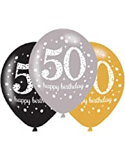 Amscan 9900740 27.5 Inch Celebration 50th Latex Balloons