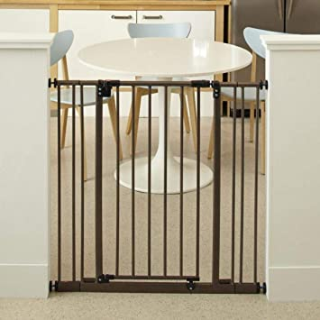 North States 38 5 Wide Extra Tall Easy Close Baby Gate Equipped With Triple Locking System Ideal