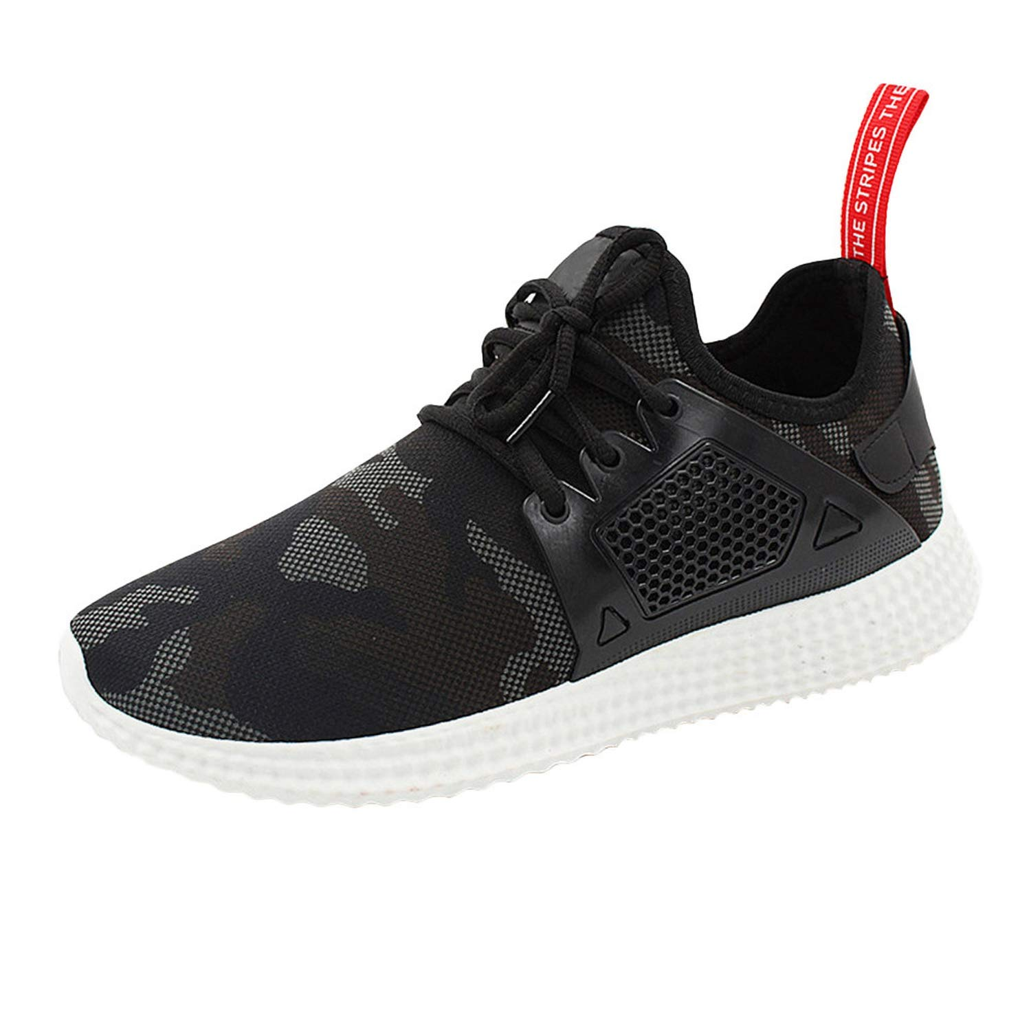 Amazon.com | Fashion Mens Sneakers Camouflage Shoes Zapatos de Hombre Breathable Casual Shoes for Men#L3, Black, 8, China | Fashion Sneakers