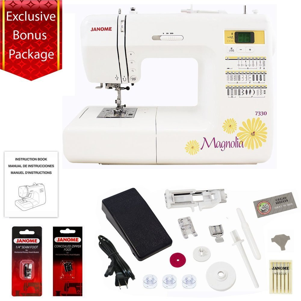 Best Rated In Sewing Machines Helpful Customer Reviews Kenmore Model 12 Machine Threading Diagram Janome 30 Stitch Computerized Magnolia 7330 With Accessories Package Product Image