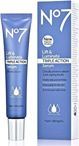 No .7 Lift & Luminate Triple Action Serum, Wrinkles Appear Reduced, 30ML