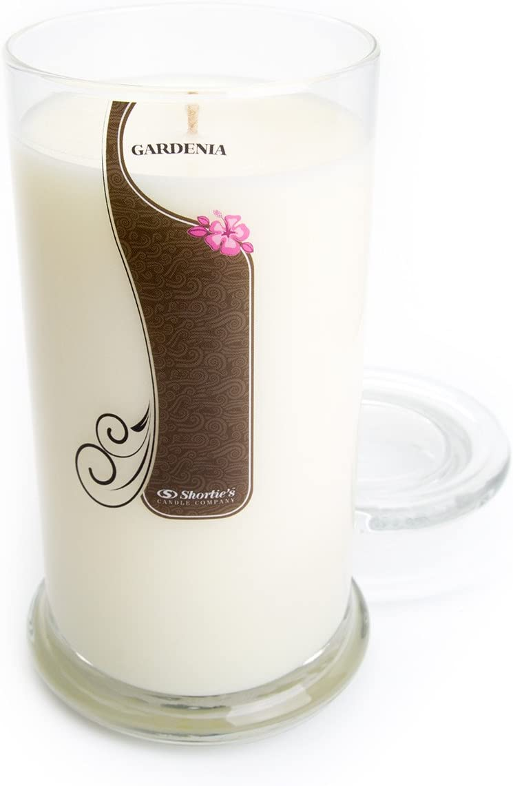 Pure Gardenia Candle - Large White 16.5 Oz. Highly Scented Jar Candle - Made with Essential & Natural Oils - Flower & Floral Collection