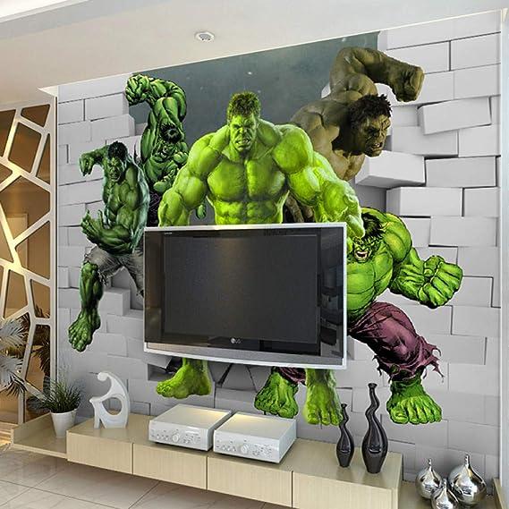 ZJJBH Mural De Papel Tapiz 3D Autoadhesivo (An.) 450X (Al) 300 Cm Gigante Tridimensional Internet Cafe Bar Cine Niños Niño Niña Habitación Decoración De Pared Papel Tapiz - Sala De Estar Dormitorio: