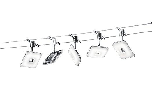 60 opinioni per Trio 775810506 Pontius Sistema su Cavi a LED, 5x4.1 W, Cromo, 500 cm