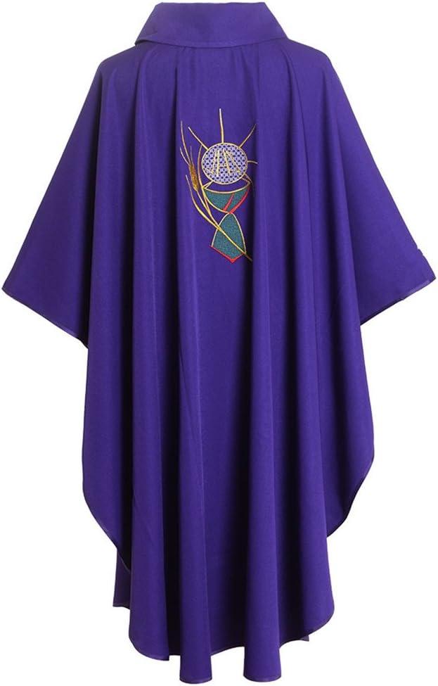 BLESSUME Sacerdote Casulla Collared Púrpura Vestiduras: Amazon.es ...