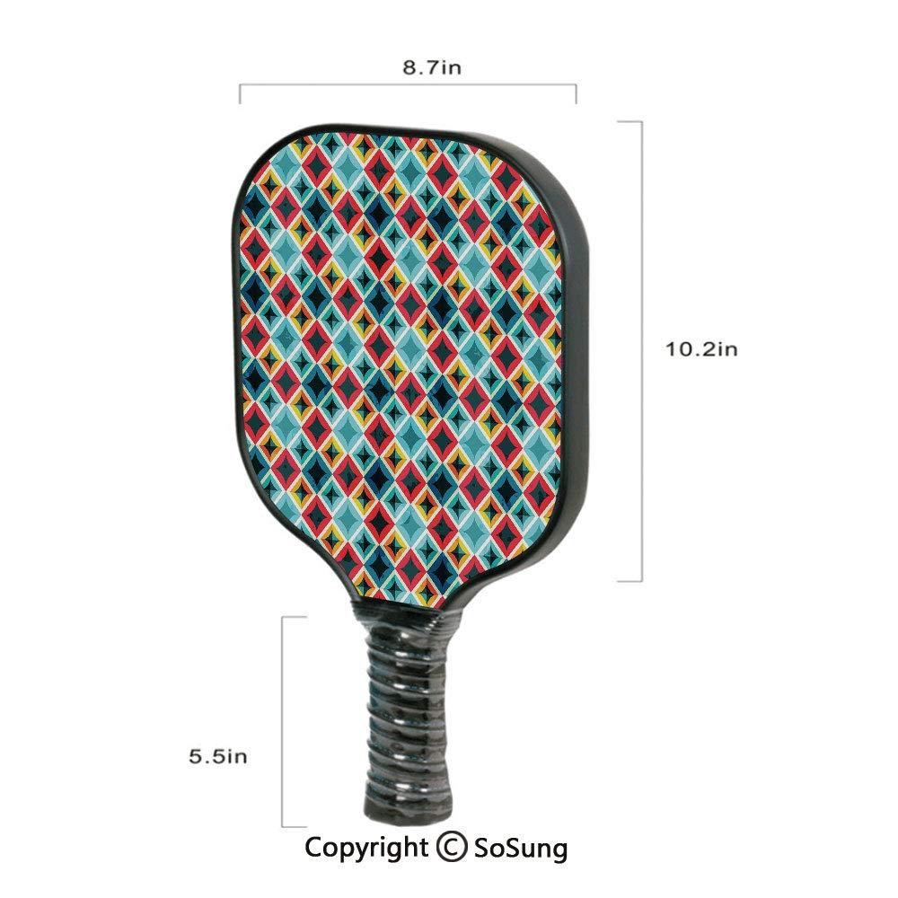 Amazon.com: Geometric Pickleball Paddle,Grunge Colorful ...