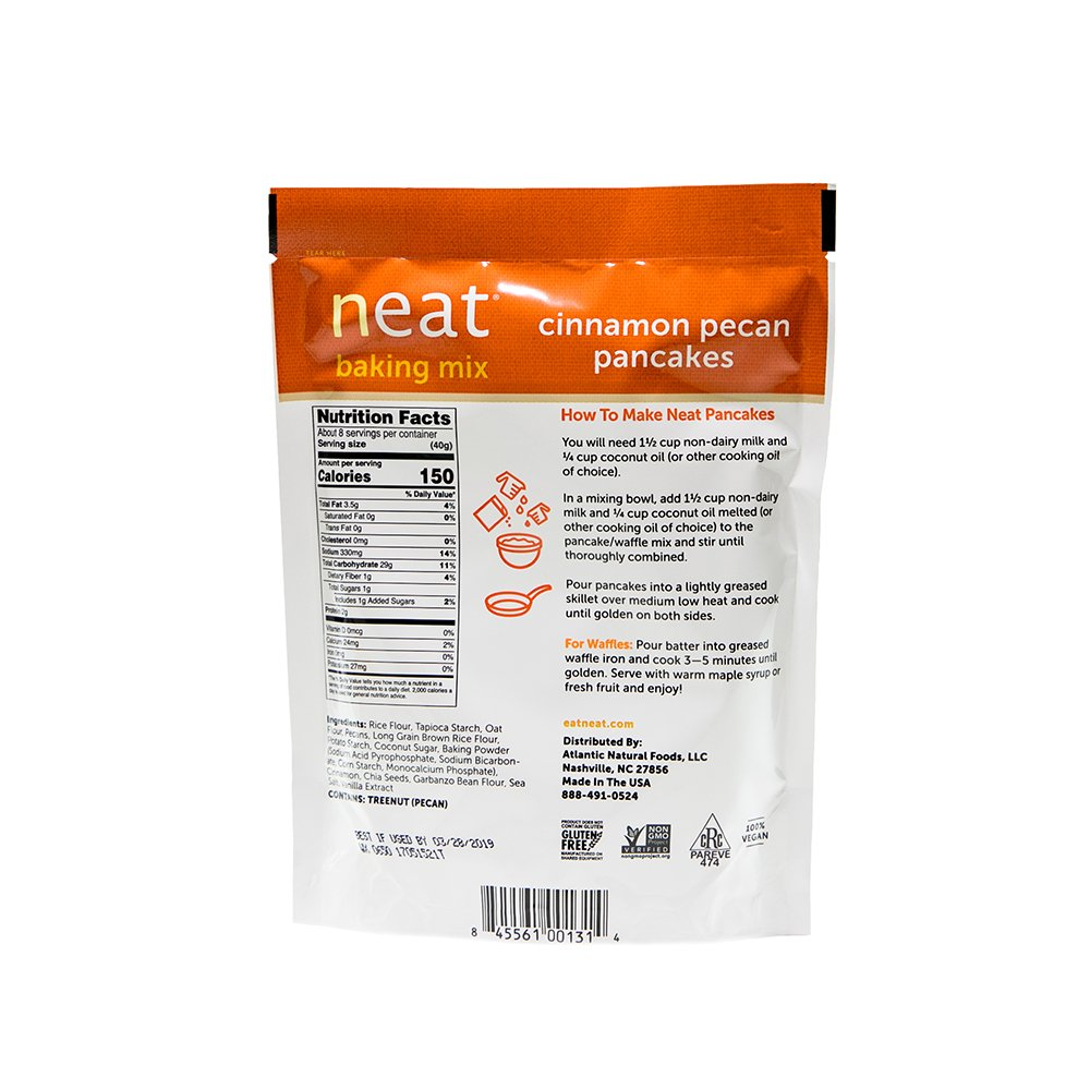 neat - Plant-Based - Cinnamon Pecan Pancakes Mix (10.8 oz.) (Pack of 6) - Non-GMO, Gluten-Free, Soy Free, Baking Mix by Neat (Image #4)