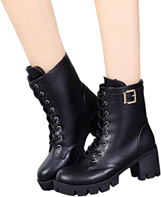 manadlian Bottes Femme Mode Chaussures Femme Bottes Boots
