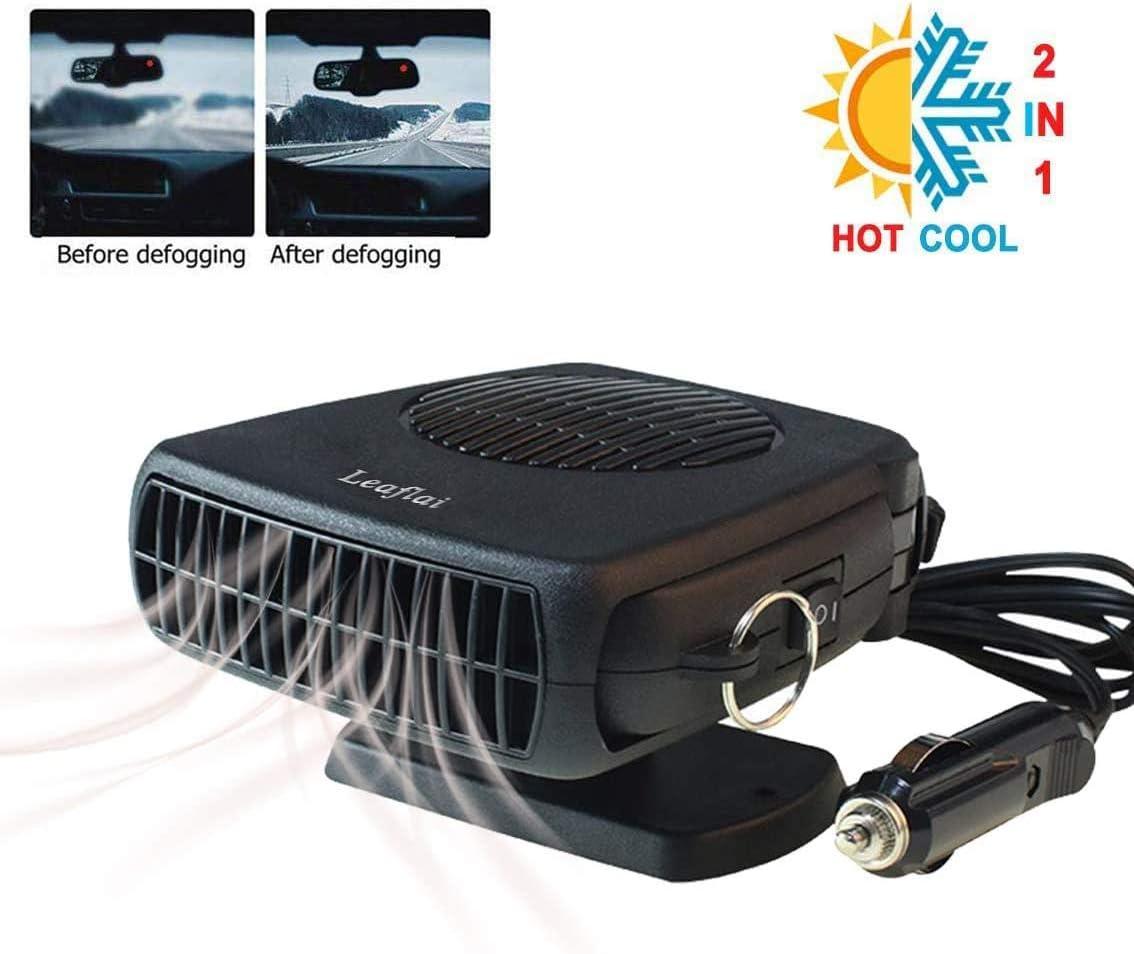 calentador port/átil 2 en 1 200 W antivaho encendedor de cigarrillos mini desempa/ñador de coche con mango ergon/ómico Calentador de coche desempa/ñador calefacci/ón // refrigeraci/ón 12 V enchufe