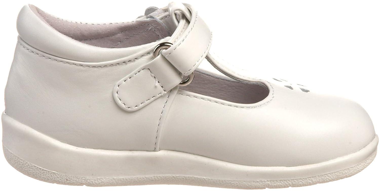 Jumping Jacks First Flight T-Strap Shoe White Leather 7.5 M US Toddler Infant//Toddler
